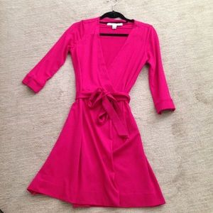 Diane Von furstenberg pink Julian wrap dress